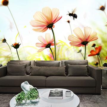 Papel de Parede para Sala 0027 - Papel de Parede de Flores