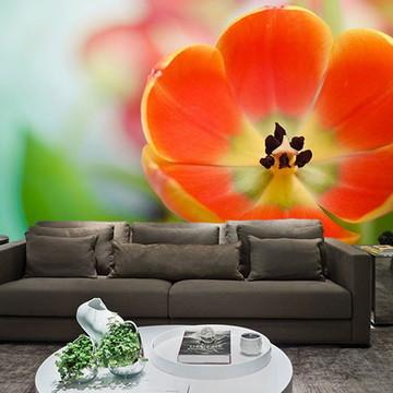 Papel de Parede para Sala 0028 - Papel de Parede de Flores