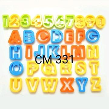 Cortador alfabeto grande + números