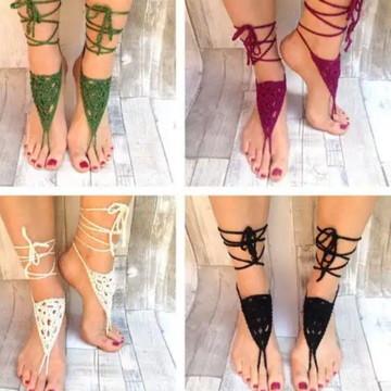Barefoots sandálias descalças praia