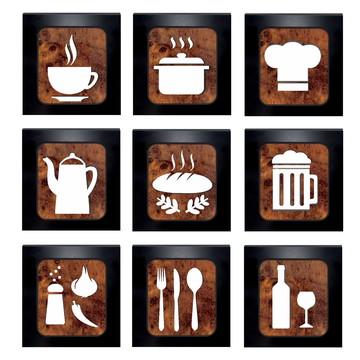 Quadros Decorativos Cozinha Restaurante - Unidade - 30 cm