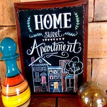 Quadro Vintage - Home Sweet