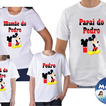 Camisetas Aniversario Mickey Mouse c/4
