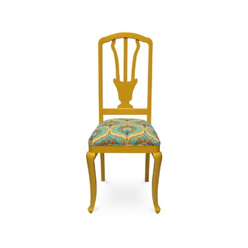 cadeira antiga yellow garden