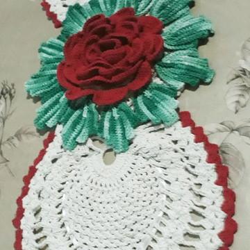 Trilho de mesa com mega flor