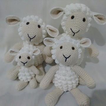 Família de Ovelhas Amigurumi