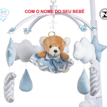 Móbile para berço bebê anjinho azul