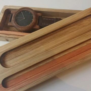 Relogio de pulso em madeira