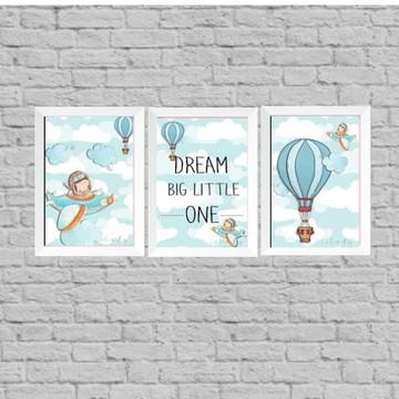 Kit quadros infantil dream little one