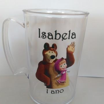 Canecas Personalizadas De Aniversario Da Marsha E O Urso