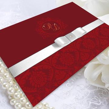 Convite de Casamento Papel Couché