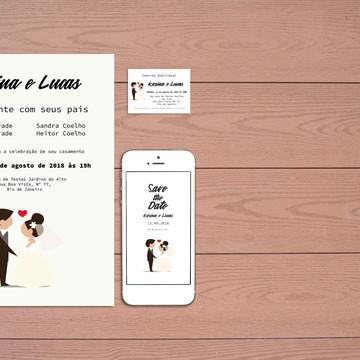 Identidade Visual Casamento Noivos (Digital) 3 Artes