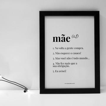 Quadro Frases de Mãe A4 com Moldura