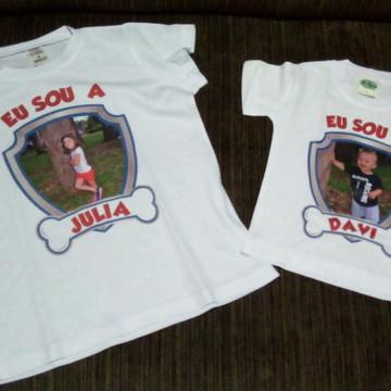 Camiseta personalizada com foto família