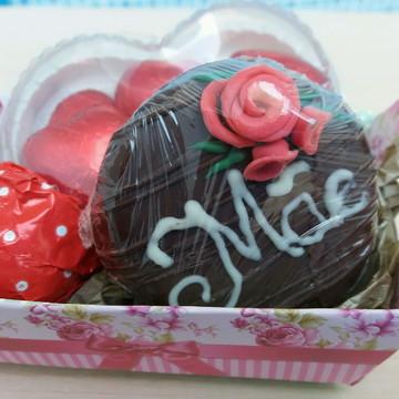 Mini cesta de chocolate lembrancinha dia das mães