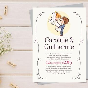 Convite Casamento Digital - Conto de Fadas