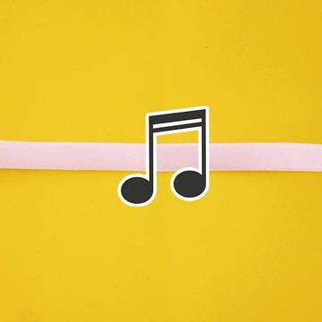 Fita com tag - notas musicais