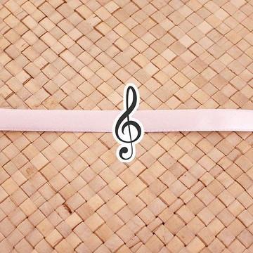 Fita com tag - notas musicais clave de sol