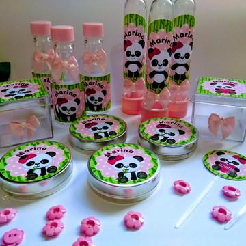 panda rosa aniversário