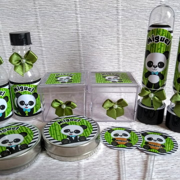 kit festa personalizado - panda