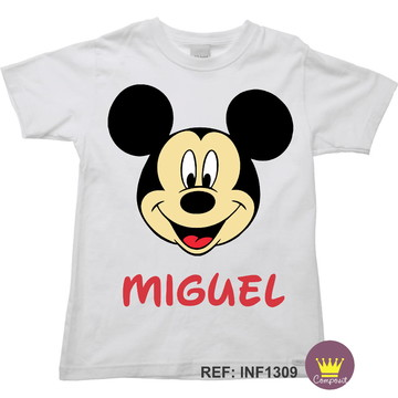 Camiseta Infantil Mickey Mouse 01