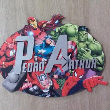 Quadro Nome Super Herois