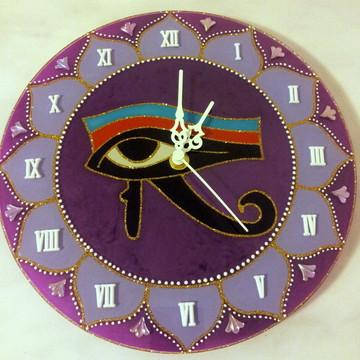 Relógio Olho de Hórus Lílás 25cm
