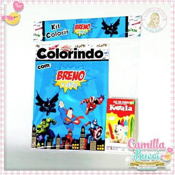 Kit Colorir Super Heróis