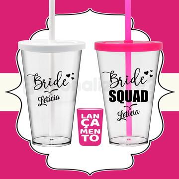 Copos Team Bride Bride Squad para Despedida de Solteira