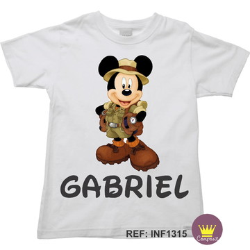 Camiseta Infantil Mickey Safári 01