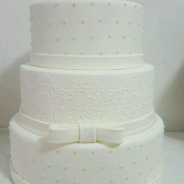 Bolo fake casamento bolo falso casamentocasamento com renda