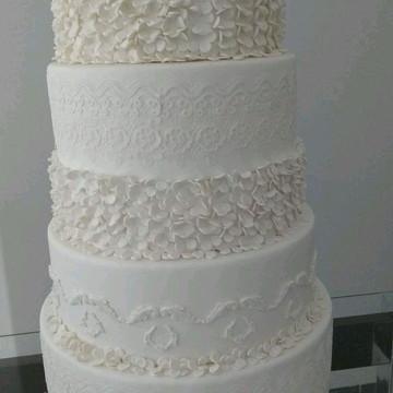 Bolo fake casamento bolo falso casamento com renda