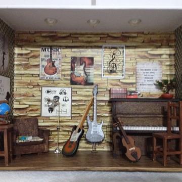 Quadro Sala Musical em Miniatura