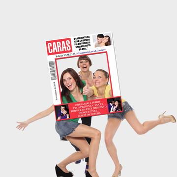 Moldura da Revista Caras para fotos