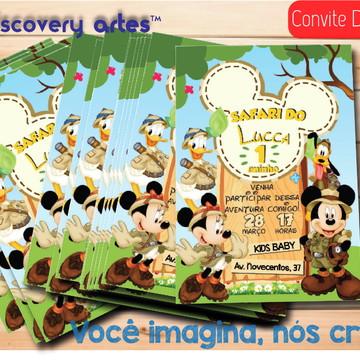 Convite Digital Mickey Safari