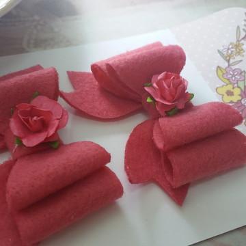 laços de feltro para artesanato e customização