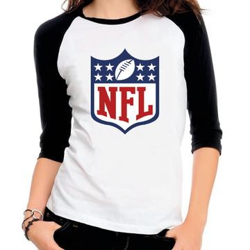 b43579f45 Camiseta Raglan 3 4 Nfl Futebol Americano
