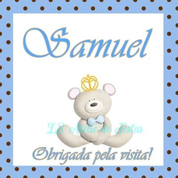 tag impressa   ursinho príncipe   personalizada