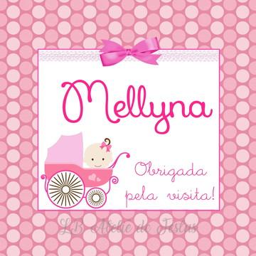tag impressa   chegada de maternidade   personalizada