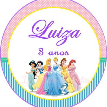 tag impressa   princesas disney   personalizada