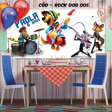 Painel festa decoração rock dog