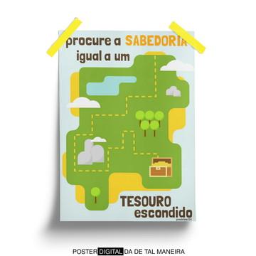 Mapa do Tesouro - poster cristão digital