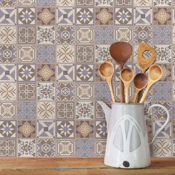 Adesivo Azulejo Cozinha 10x10 50un. Lavanda