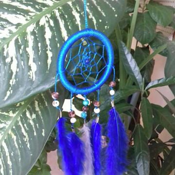 Filtro dos sonhos azul carbono de 8 cm, comprimento 25cm
