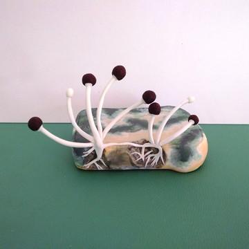 Cogumelo realista fungos pão de forma