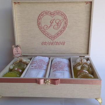 """Caixa Luxo para os Pais da noiva/o """"Pais da noiva"""""""
