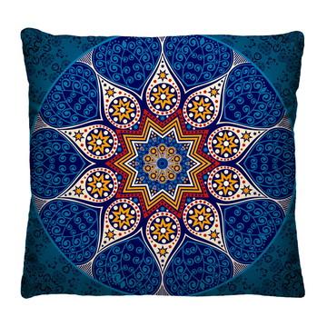 Capa de Almofada Mandala Azul