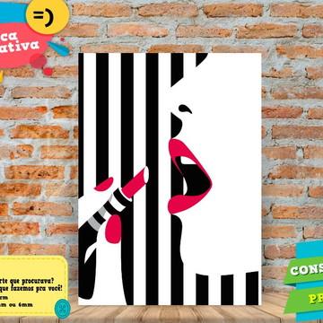 Placa Decorativa -Moda - Mulher Fashion 7 - REF0503