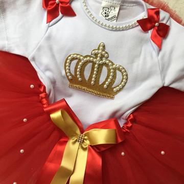 Vestido de festa tema coroa ou realeza