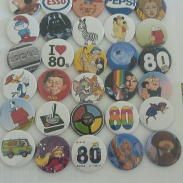 Promoção: 80 Bottons dos Anos 80